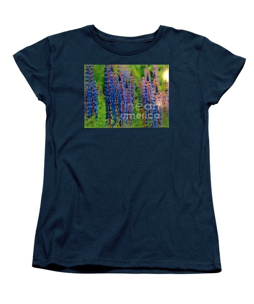 Women's T-Shirt (Standard Cut) featuring the painting  Lois Love Of Lupine by FeatherStone Studio Julie A Miller