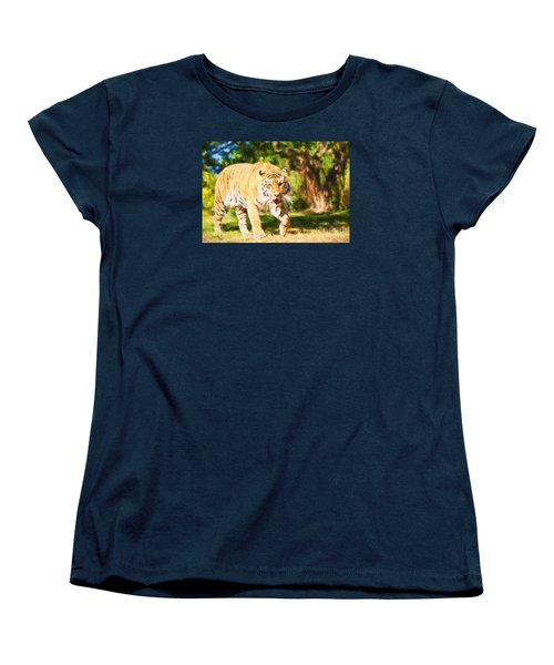 Women's T-Shirt (Standard Cut) featuring the painting  On The Prowl by Judy Kay