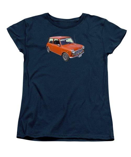 Red Mini Cooper Women's T-Shirt (Standard Cut) by Keith Webber Jr