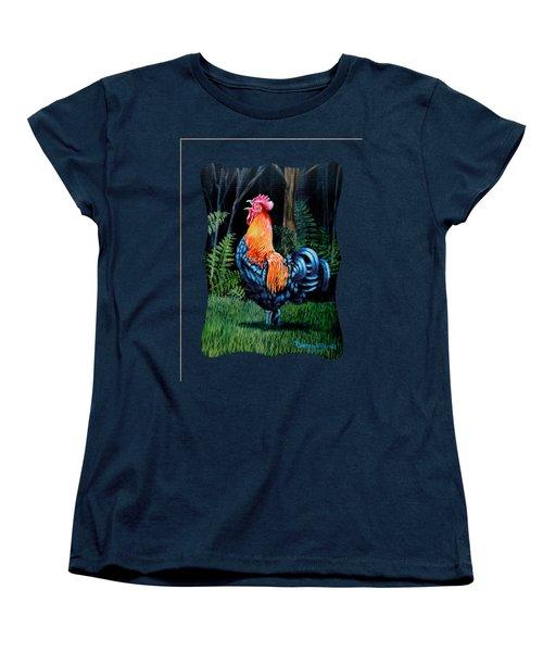 Rooster Crow A Welsummer Rooster  Women's T-Shirt (Standard Cut) by Ruanna Sion Shadd a'Dann'l Yoder