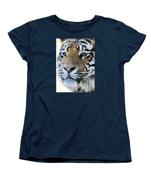 Tiger Portrait  Women's T-Shirt (Standard Cut) by Mindy Bench