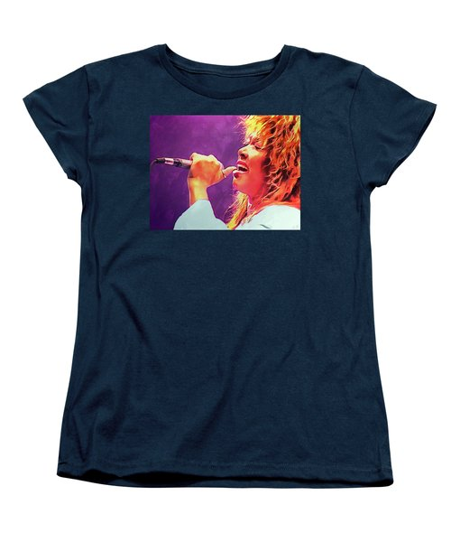 Tina Turner Women's T-Shirt (Standard Cut) by Sergey Lukashin