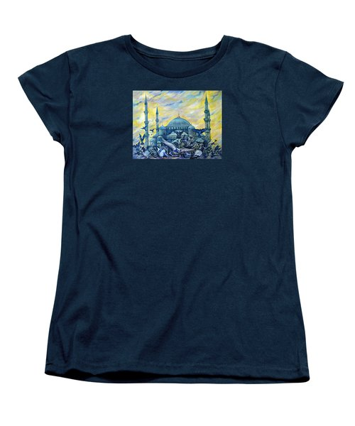 Turkey. Blue Mosque Women's T-Shirt (Standard Cut) by Anna Duyunova