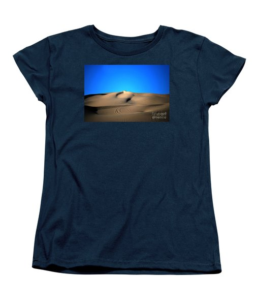 Yuma Dunes Number One Bright Blue And Tan Women's T-Shirt (Standard Cut) by Heather Kirk