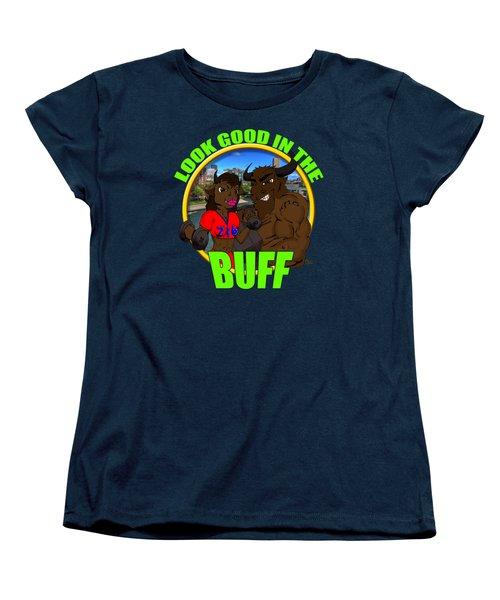 01 Look Good In The Buff Women's T-Shirt (Standard Cut) by Michael Frank Jr