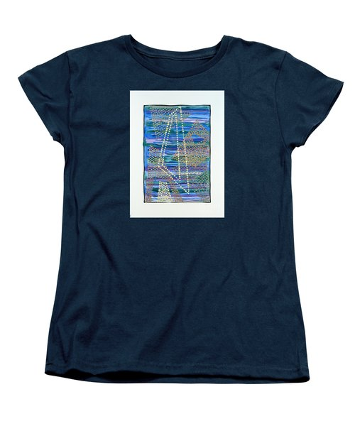 01330 Lean Women's T-Shirt (Standard Cut) by AnneKarin Glass