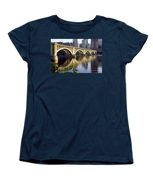 0333 3rd Avenue Bridge Minneapolis Women's T-Shirt (Standard Cut) by Steve Sturgill