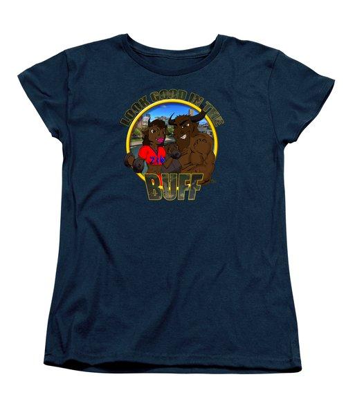 04 Look Good In The Buff Women's T-Shirt (Standard Cut) by Michael Frank Jr
