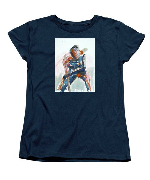 04954 Athlete Women's T-Shirt (Standard Cut) by AnneKarin Glass