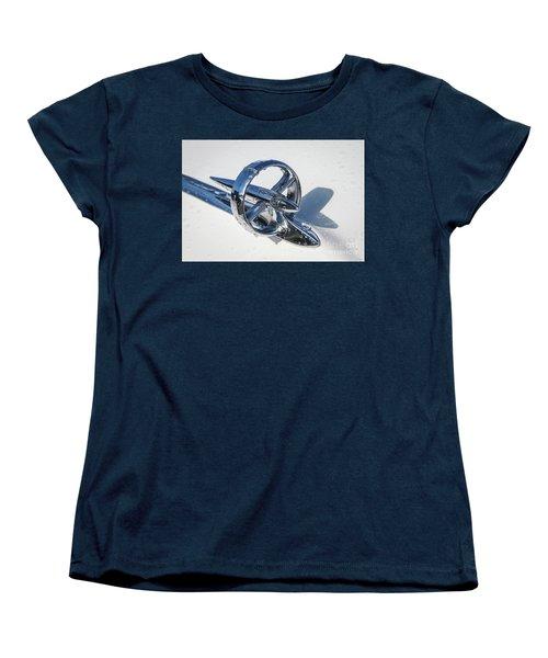 Women's T-Shirt (Standard Cut) featuring the photograph 1953 Buick Hood Ornament by Dennis Hedberg
