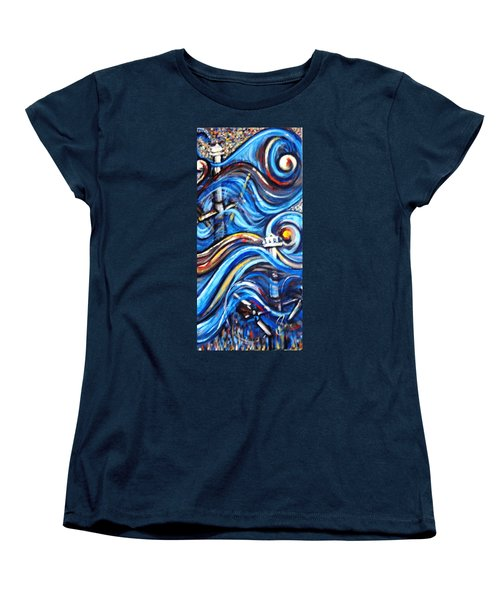 Women's T-Shirt (Standard Cut) featuring the painting A Ray Of Hope 4 by Harsh Malik