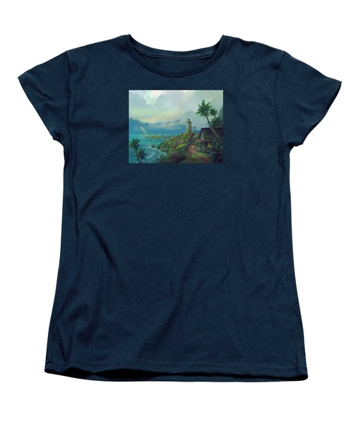 Women's T-Shirt (Standard Cut) featuring the painting A Small Patch Of Heaven by Michael Humphries