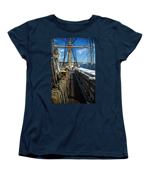 Women's T-Shirt (Standard Cut) featuring the photograph Aboard The Eagle by Karol Livote