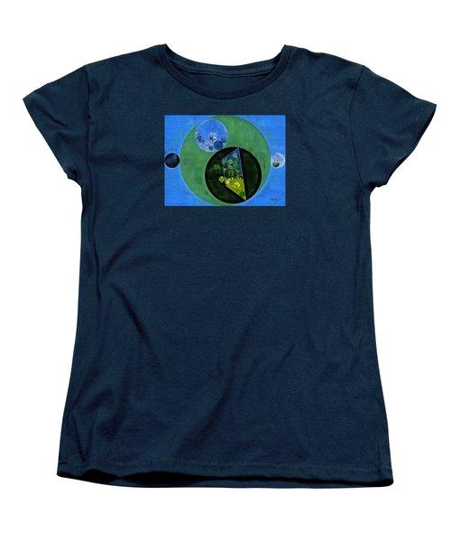 Women's T-Shirt (Standard Cut) featuring the digital art Abstract Painting - Amazon by Vitaliy Gladkiy