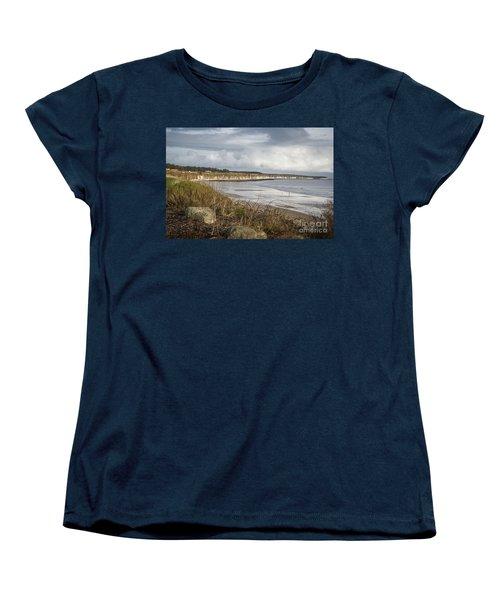 Across The Bay Women's T-Shirt (Standard Cut) by David  Hollingworth
