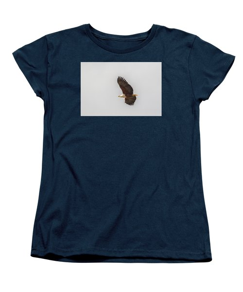 Women's T-Shirt (Standard Cut) featuring the tapestry - textile African Fish Eagle by Kathy Adams Clark