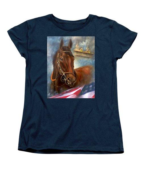 American Pharoah Women's T-Shirt (Standard Cut) by Patrice Torrillo