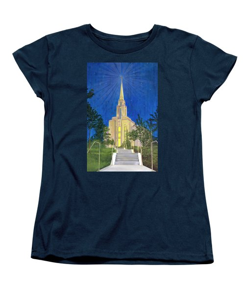 Women's T-Shirt (Standard Cut) featuring the painting Angel Portal by Jane Autry
