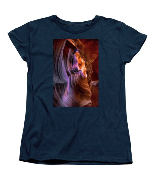 Women's T-Shirt (Standard Cut) featuring the photograph Antelope Canyon #6 by Phil Abrams