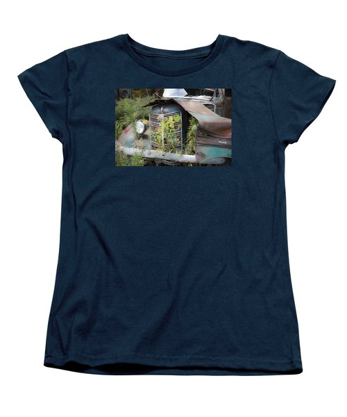 Women's T-Shirt (Standard Cut) featuring the photograph Antique Mack Truck by Charles Harden