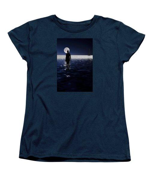 Antony Gormley Statues Crosby Women's T-Shirt (Standard Cut)