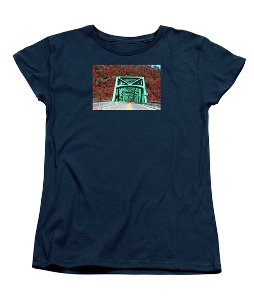 Women's T-Shirt (Standard Cut) featuring the photograph Autumn Bridge by Michael Rucker