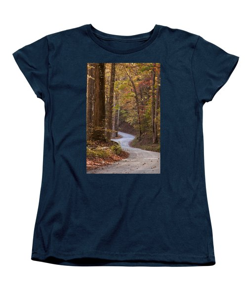 Autumn Drive Women's T-Shirt (Standard Cut) by Andrew Soundarajan