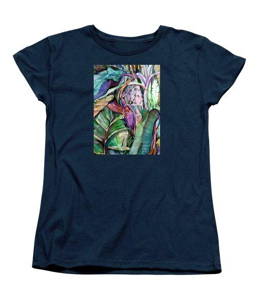 Banana Pod Women's T-Shirt (Standard Cut) by Mindy Newman