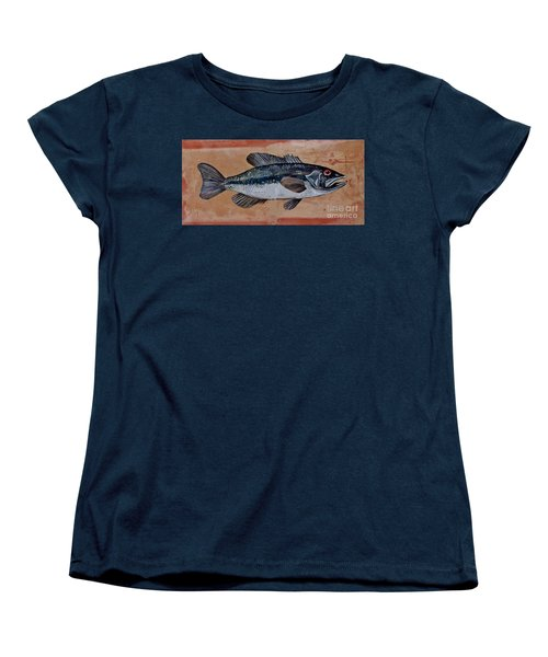 Women's T-Shirt (Standard Cut) featuring the painting Bass by Andrew Drozdowicz