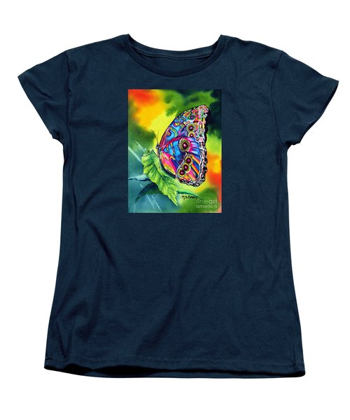 Women's T-Shirt (Standard Cut) featuring the painting Beatrice Butterfly by Maria Barry