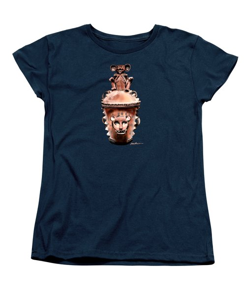 Women's T-Shirt (Standard Cut) featuring the painting Before Mickey by Jean Pacheco Ravinski