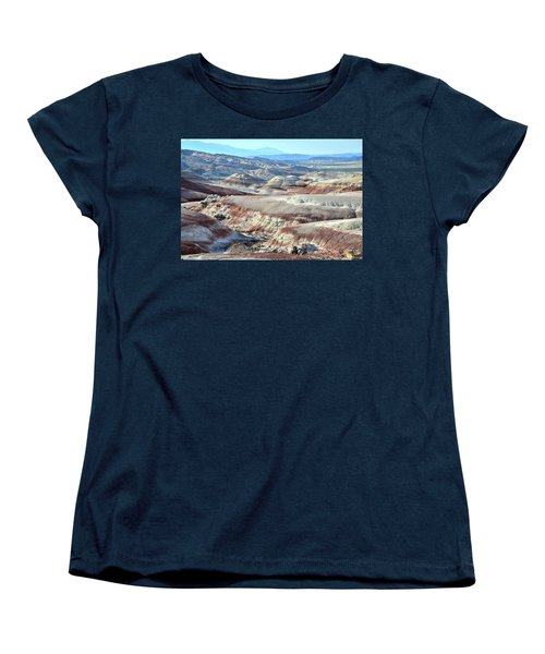 Bentonite Clay Dunes In Cathedral Valley Women's T-Shirt (Standard Cut) by Ray Mathis