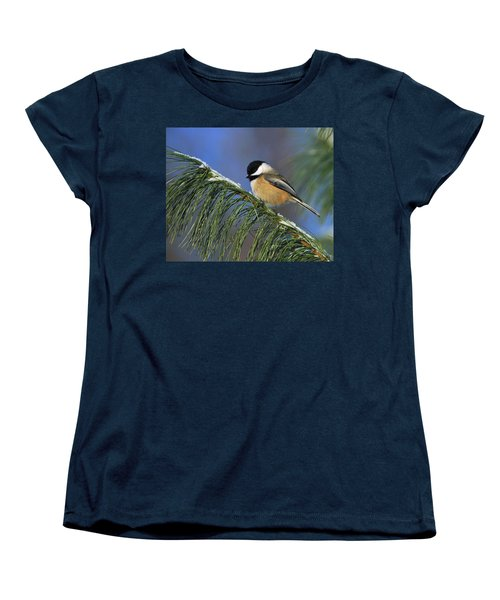 Black-capped Chickadee Women's T-Shirt (Standard Cut) by Tony Beck