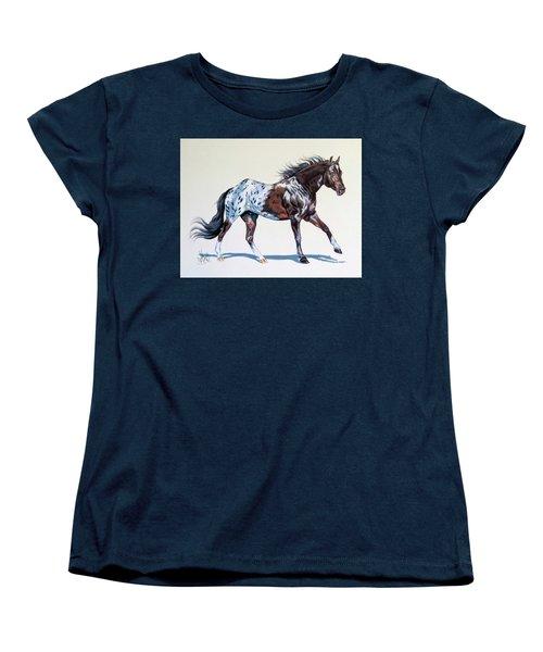 Blanketed Appaloosa Women's T-Shirt (Standard Cut) by Cheryl Poland