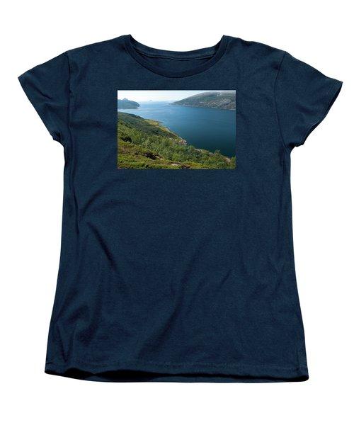 Blue Fjord Women's T-Shirt (Standard Cut) by Tamara Sushko
