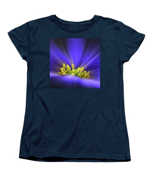 blue Shades - An Anemone Blanda Women's T-Shirt (Standard Cut) by John Edwards