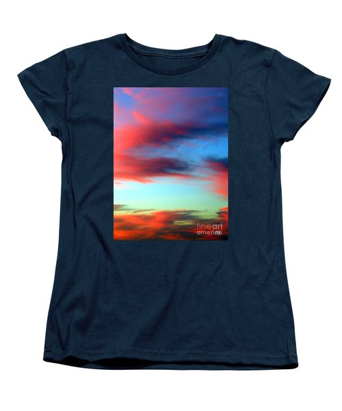 Women's T-Shirt (Standard Cut) featuring the photograph Blushed Sky by Linda Hollis