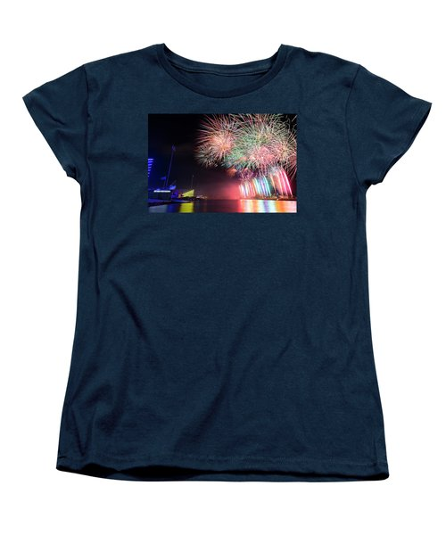 Boathouse Fireworks Women's T-Shirt (Standard Cut)
