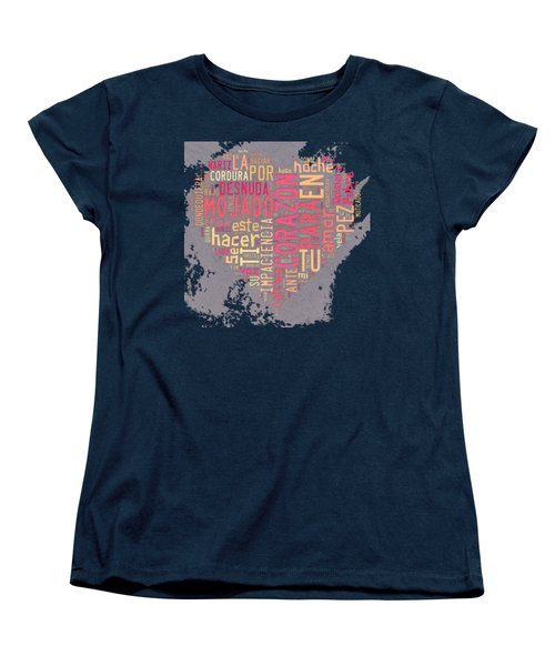 Burbujas De Amor Women's T-Shirt (Standard Cut) by Paulette B Wright