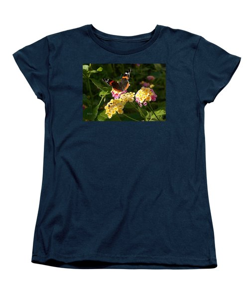 Busy Butterfly Side 2 Women's T-Shirt (Standard Cut) by Felipe Adan Lerma