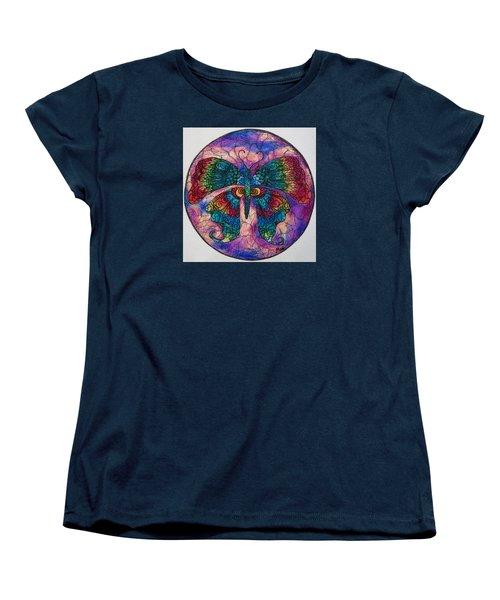 Butterfly Mandala Women's T-Shirt (Standard Cut) by Megan Walsh