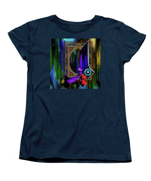 Women's T-Shirt (Standard Cut) featuring the painting Calligraphy 100 1 by Mawra Tahreem