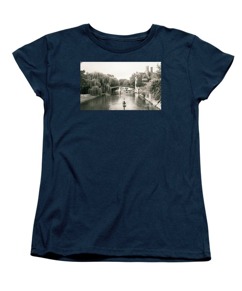 Cambridge River Punting Women's T-Shirt (Standard Cut) by Eden Baed