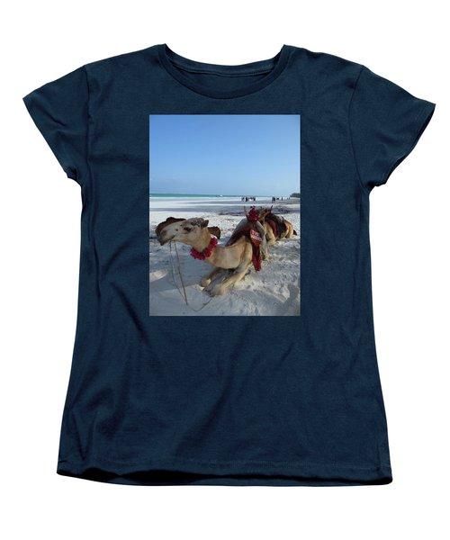 Camel On Beach Kenya Wedding Women's T-Shirt (Standard Fit)