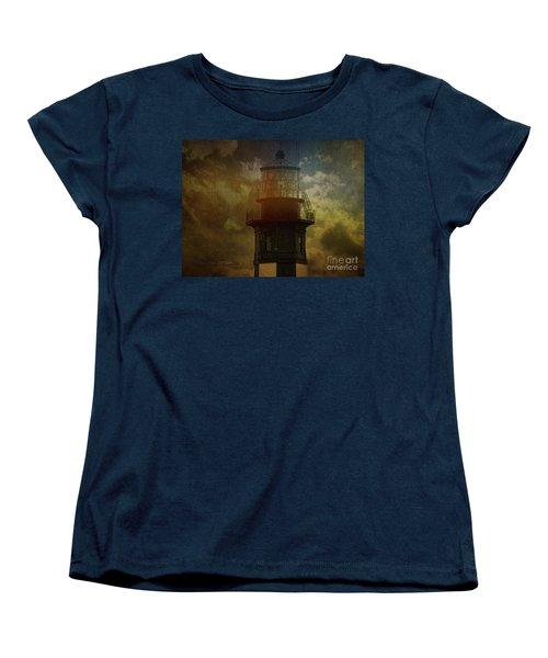 Cape Henry Lighthouse Women's T-Shirt (Standard Cut) by Melissa Messick