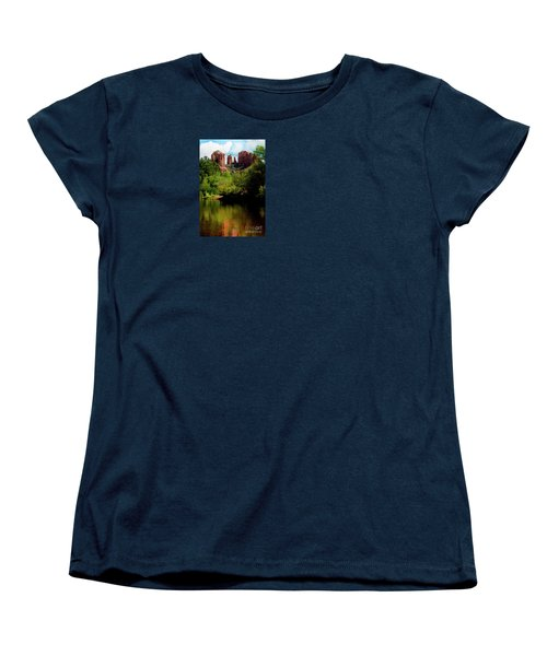 Cathedral Rock Women's T-Shirt (Standard Cut) by Ivete Basso Photography