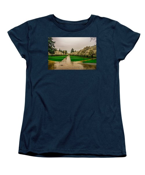 Women's T-Shirt (Standard Cut) featuring the photograph Cherry Blossoms by Jerry Cahill