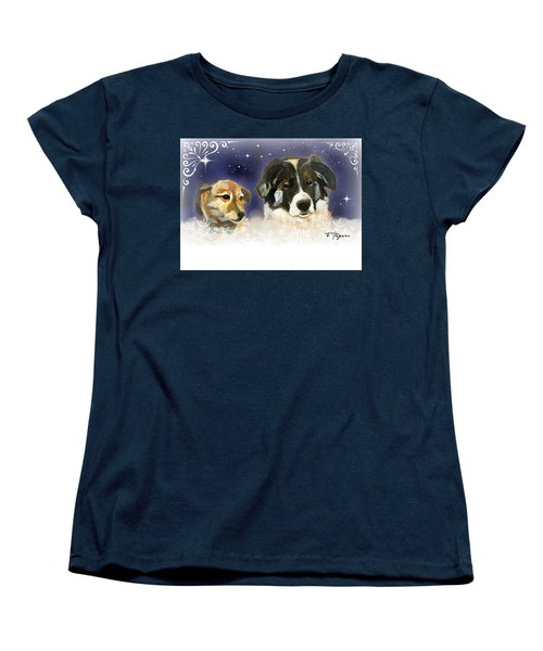 Christmas Doggies Women's T-Shirt (Standard Cut)