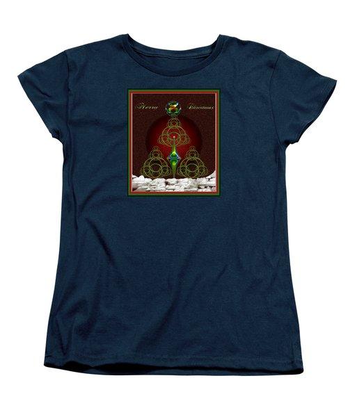 Christmas Greetings Women's T-Shirt (Standard Cut) by Mario Carini