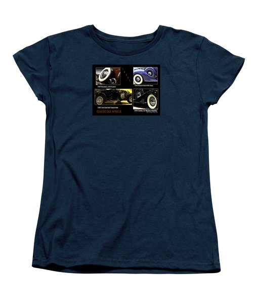 Classic Car Wheels Women's T-Shirt (Standard Cut) by Nancy Marie Ricketts